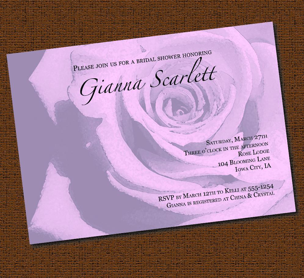 Printable classic rose bridal shower invitation on luulla for Classic bridal shower invitations