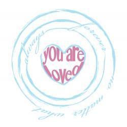"Customized ""You Are Loved"" Heart Print"